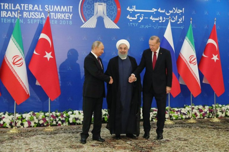 The presidents of Iran, Russia and Turkey meet in Tehran. - 07 Sep 2018
