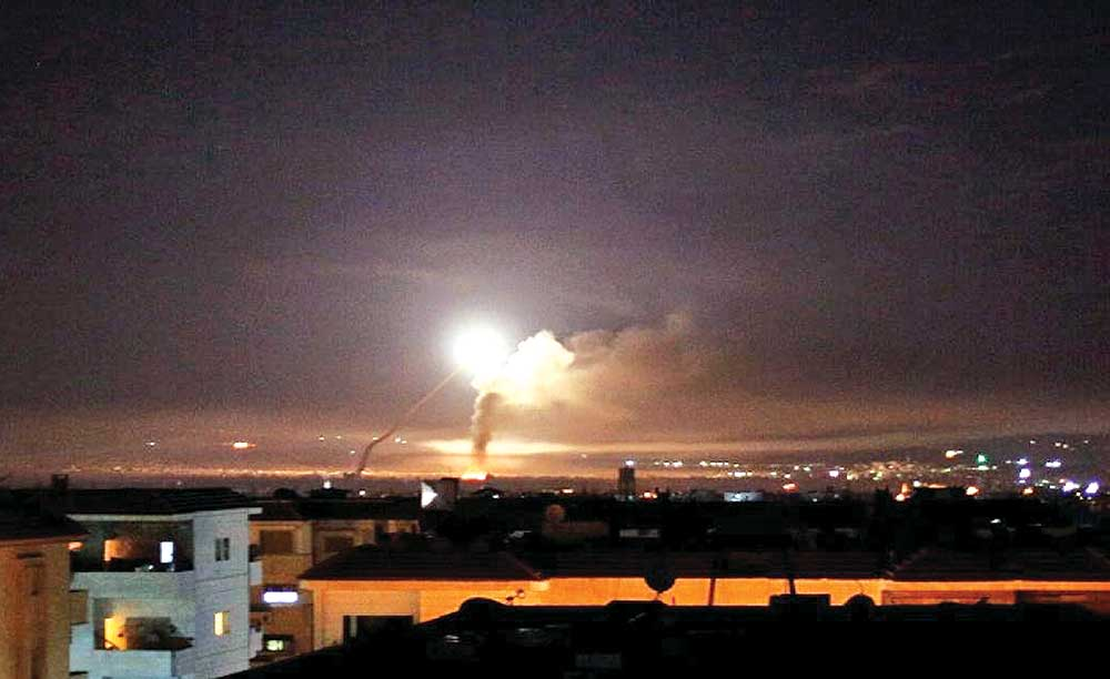 Israel attacks Iranian forces in Syria
