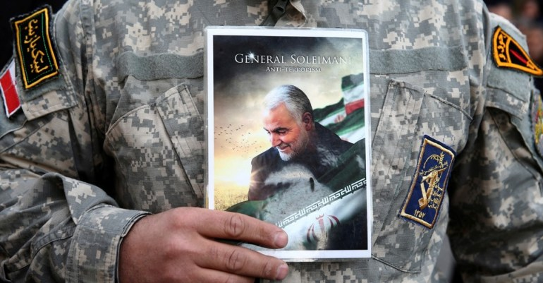 Protest against the assassination of Iranian Major-General Soleimani in Tehran