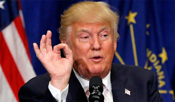 Image result for pictures of Trump's' hand signals