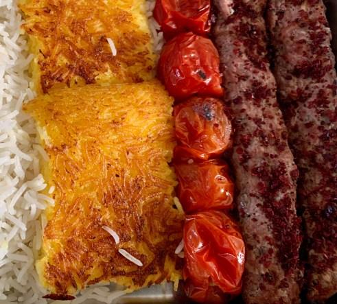 Kabab Kubide op bbq- Gehakt kebeb