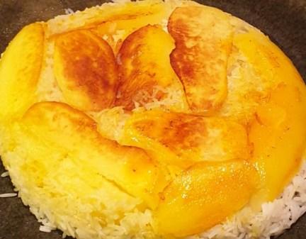 Rijst met aardappelkorst