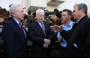 McCain-Lieberman-ehud barak