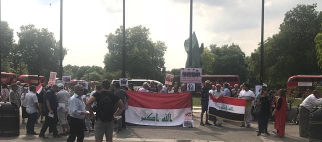 وقفة تضامنية للجالية العراقية في لندن