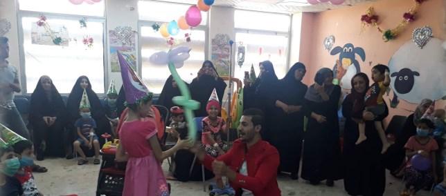 احتفالية فريق انقياء للاطفال المصابين بمرض السرطان