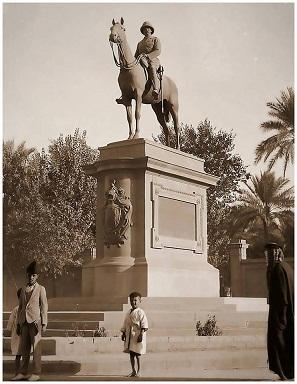 تمثال الجنرال مود امام السفارة البريطانية في بغداد