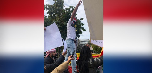 وقفة أبناء الجالية العراقية في هولندا لنصرة شعبنا