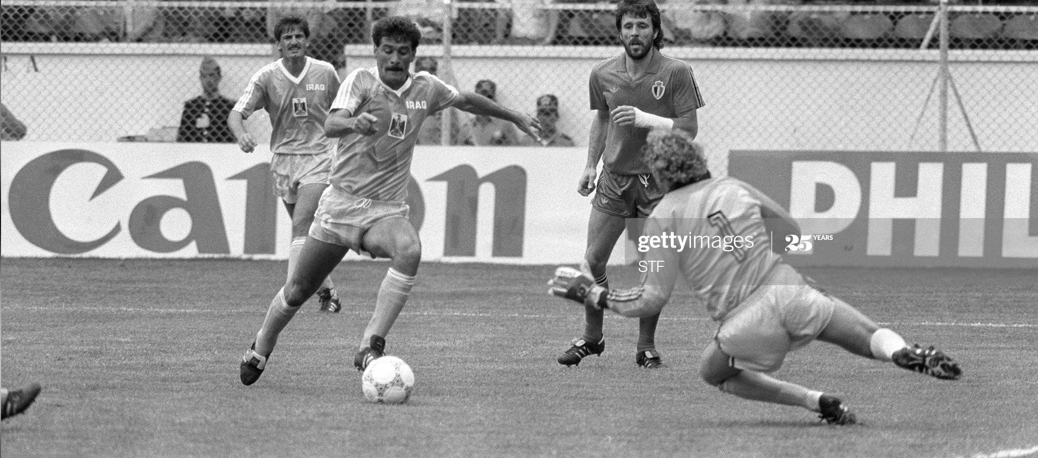 جان ماري بفاف عن المنتخب العراقي في كأس العالم 1986