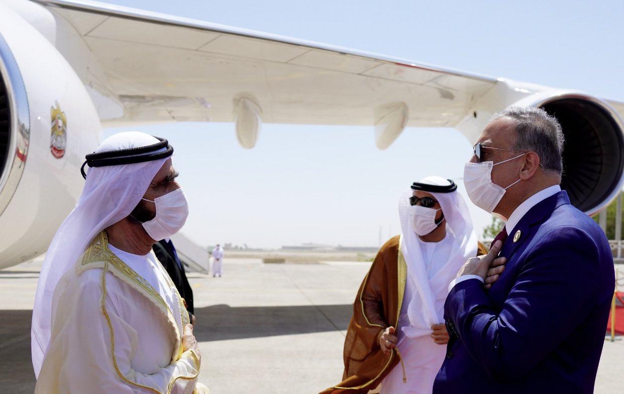 ماذا قال الشيخ محمد بن راشد عند وصوله للعراق؟