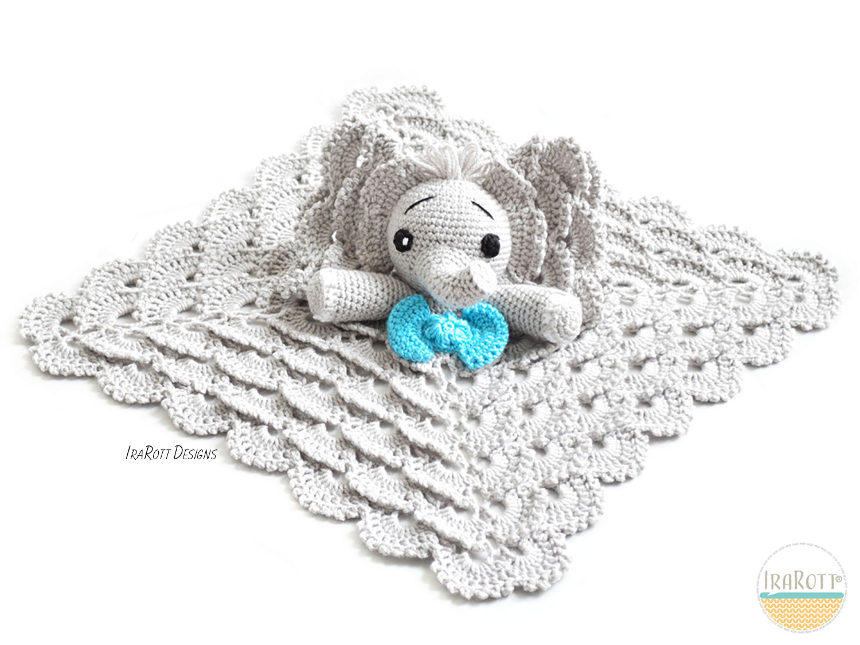 Josefina And Jeffery Elephant Security Blanket Crochet