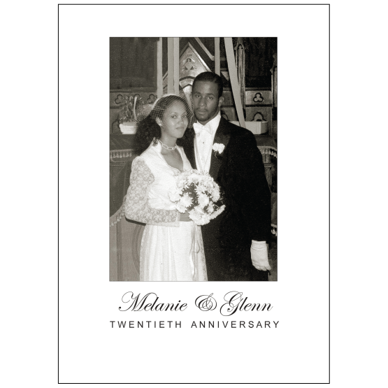 Cover of 20th Wedding Anniversary Party Invitation with Photo