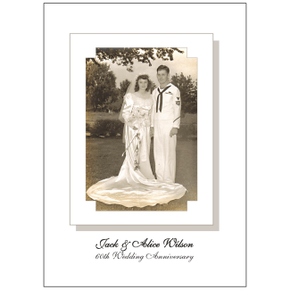 60th Wedding Anniversary Party Invitation with Photo