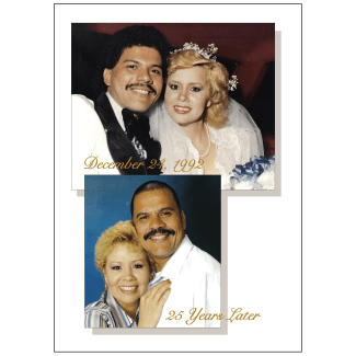 Cover of 25th Anniversary Party Invitation with Photo