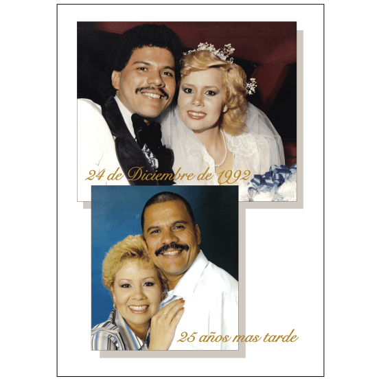 Cover of 25th Wedding Anniversary Party Invitation with Photo in Spanish