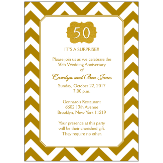 50th Wedding Anniversary Party Invitation
