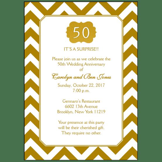 50th Wedding Anniversary Party Invitation