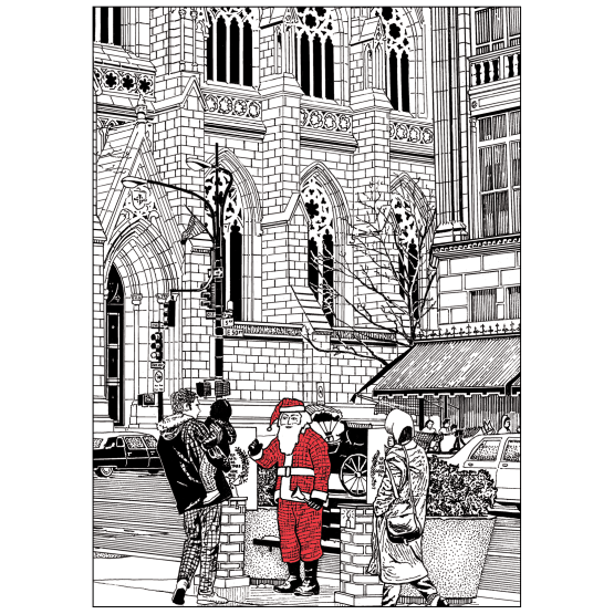 Cover of Christmas Card with St. Patrick's Cathedral