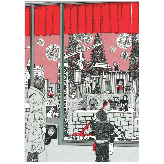 Cover of Christmas Holiday Card Toy Store