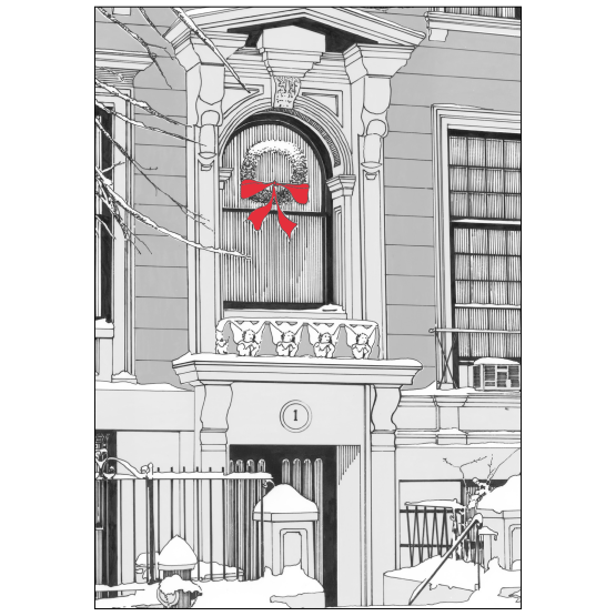 Cover of Christmas Holiday Card Brownstone Winter VI