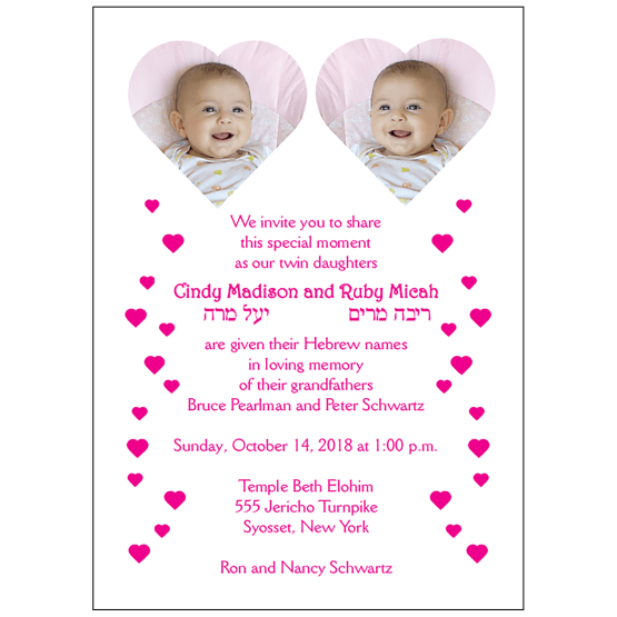 Thank You Card with Baby Photo