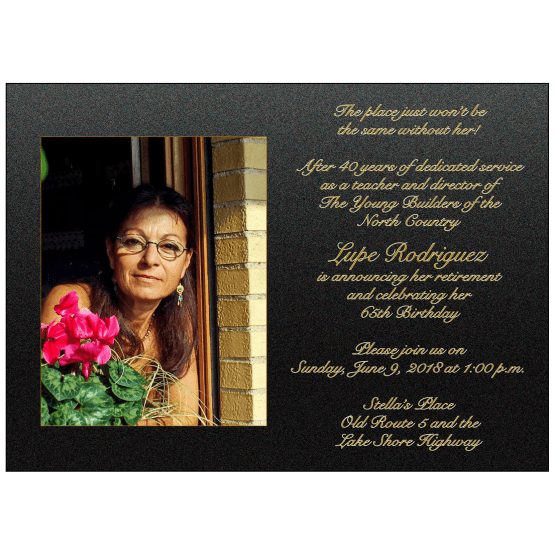 Retirement Party Invitation with Photo
