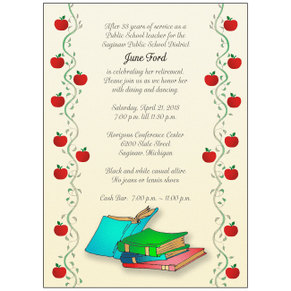 Retirement Party Invitation for Teachers