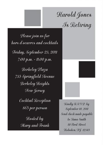 Retirement Party Invitation Template - RPIT-13_5x7
