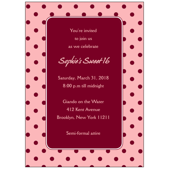 Sweet 16 Invitation