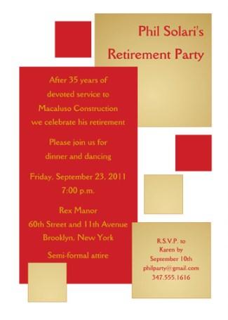 Retirement Party Invitation Template - RPIT-18_5x7