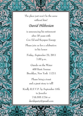 Retirement Party Invitation Template - RPIT-20_5x7