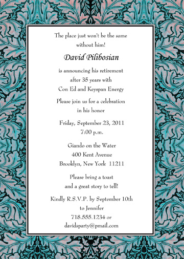 Retirement Party Invitation Template   RPIT 20_5x7 ...