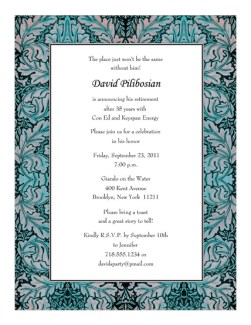 Retirement Party Invitation Template - RPIT-20