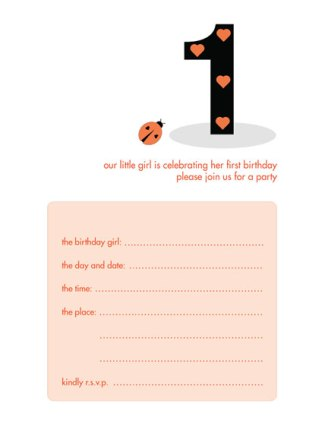 Children's Birthday Party Invitation - KBIF-07