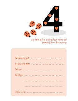 Children's Birthday Party Invitation - KBIF-10