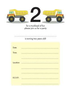 Children's Birthday Party Invitation - KBIF-12