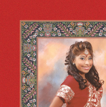 Invitation for Sweet 16 with Bollywood Theme