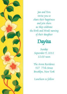 Namkaran Baby Naming Invitation