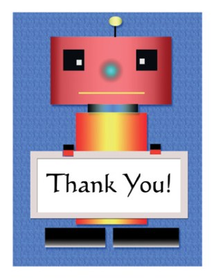 Kid's Thank You Card