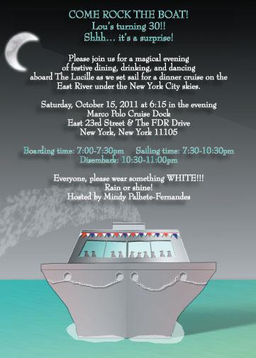 Cruise Invitation IPV Studio