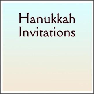 Hanukkah Invitations