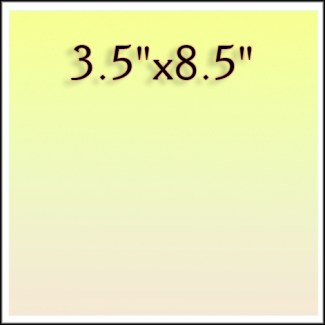 "3.5""x8.5"""
