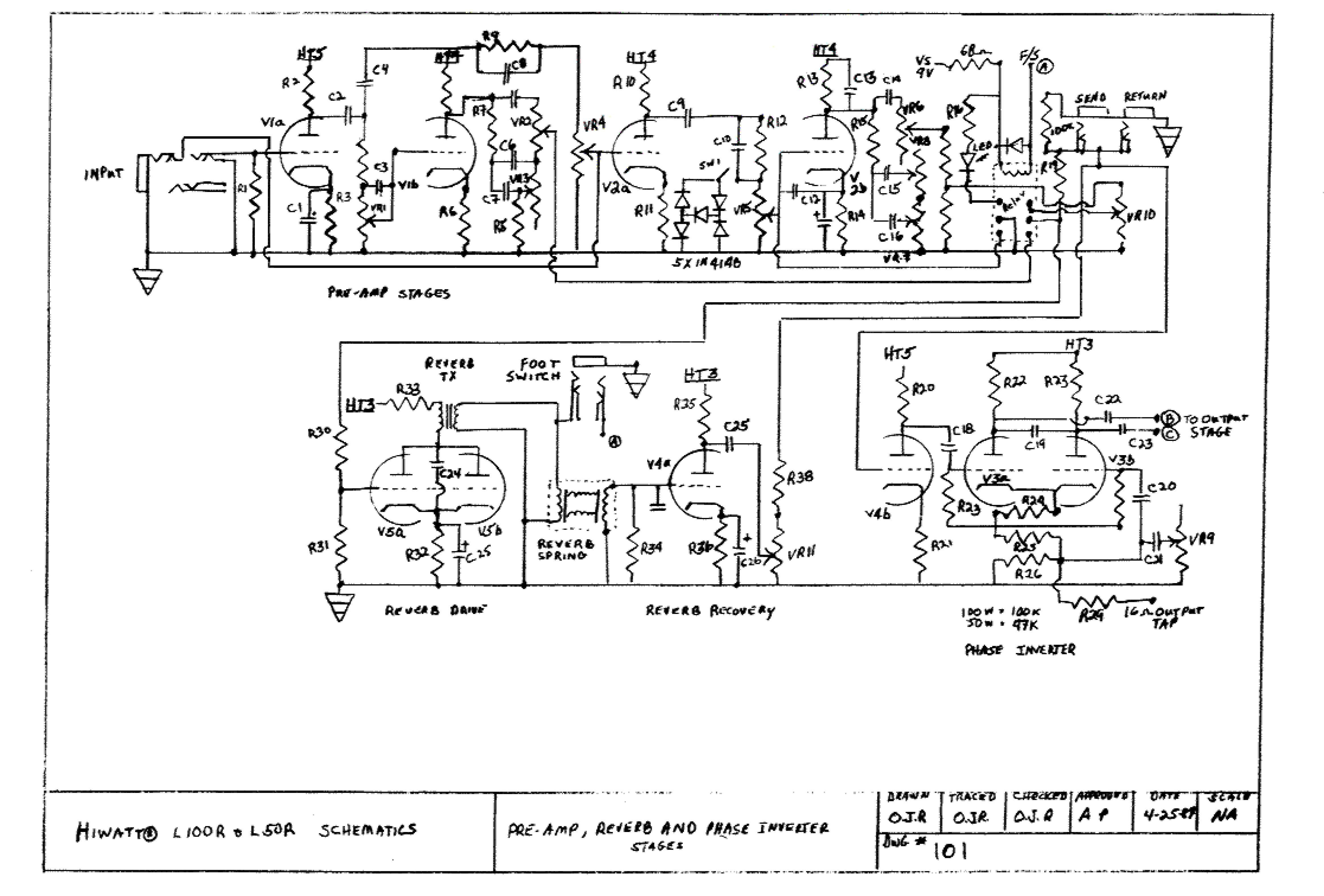 Hiwatt Amp Schematics