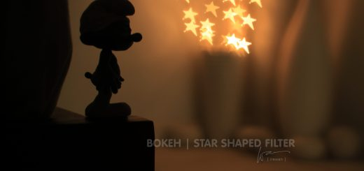 Bokeh with star shaped filter