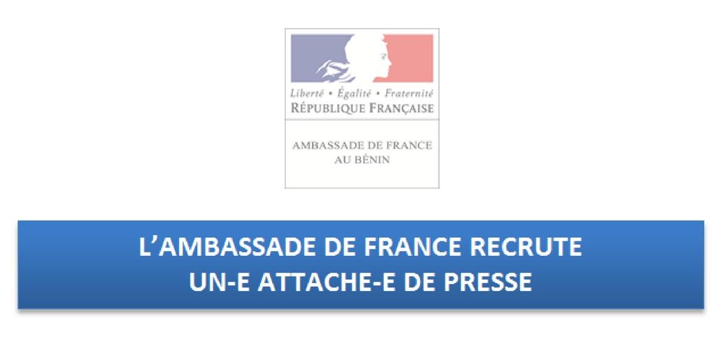 Bénin: L'Ambassade de France au Bénin Recrute Un(e) Attaché(e) de Presse