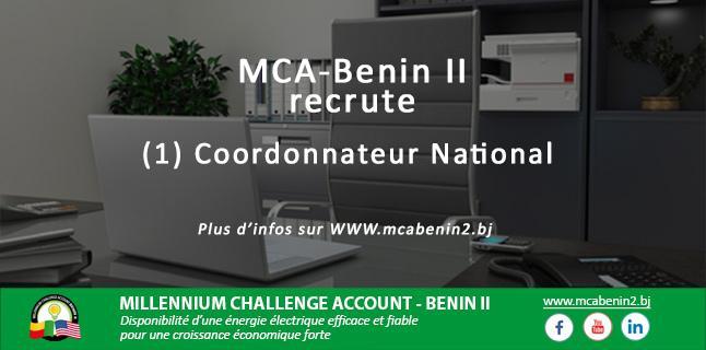 Bénin : Ce poste au Millenium Challenge Account Bénin II est Peut-Être Pour Vous.