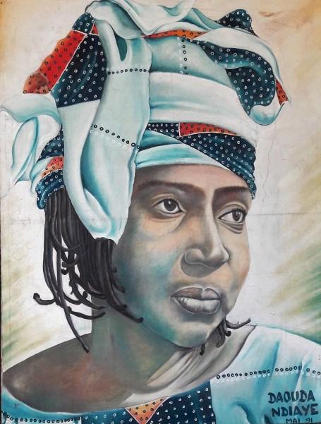 Portrait de Mariama Bâ conservé à la Maison d'éducation Mariama Bâ. Photographie d'Edouard Joubeaud. Source : UNESCO WOMEN