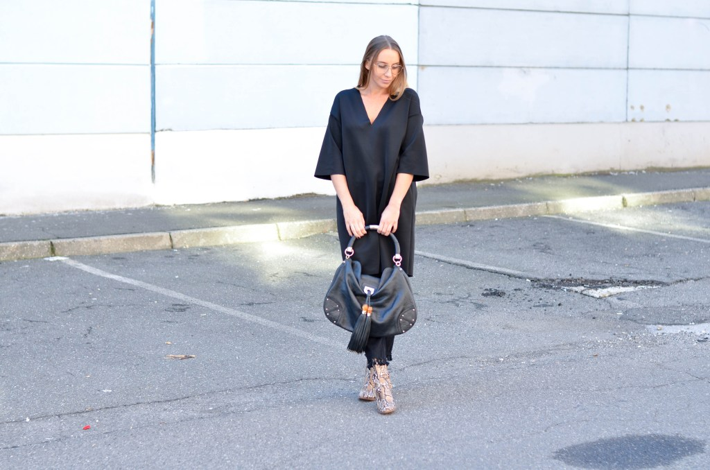 Style of the day-All black everything.
