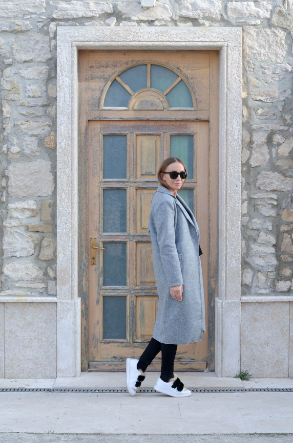 Grey long coat