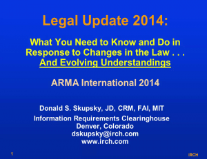 what you need to know and do in response to changes n the law and evolving understandings
