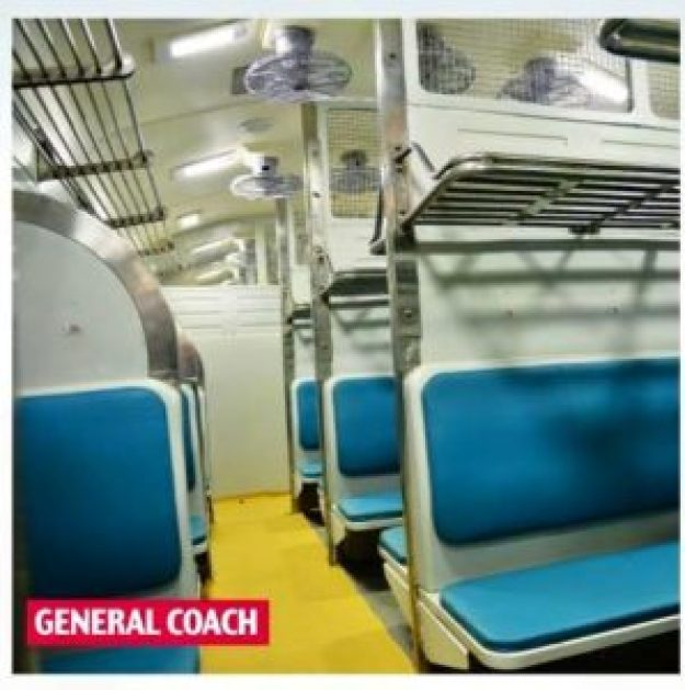 Indian Railways New Interior General Coach